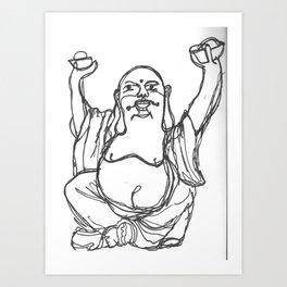 buddha contour Art Print