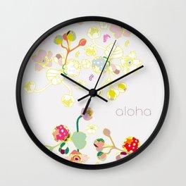 Aloha Volcano Raspberry Wall Clock