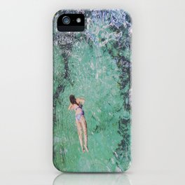 random girl swimming  iPhone Case