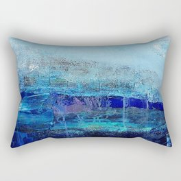 Azure - Mixed Media Acrylic Abstract Modern Art, 2009 Rectangular Pillow