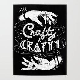 Crafty & Crafty - B&W Poster