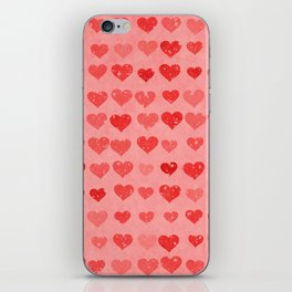 Pink Valentines Love Hearts iPhone Skin