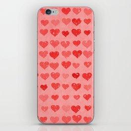 Pink Valentines Love Hearts iPhone Skin