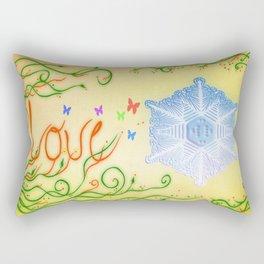 LOVE. Mensajes del agua Rectangular Pillow