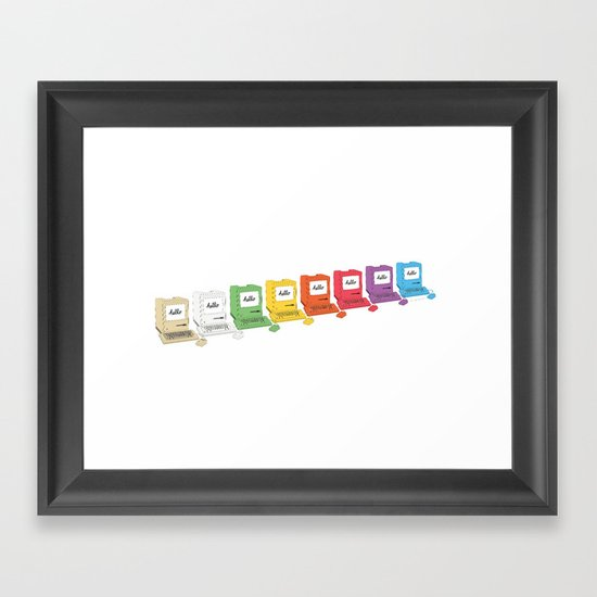 8 Macs in a Row Framed Art Print