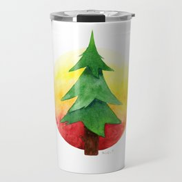 The Pine Guard Watercolor Logo Travel Mug