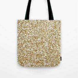 Tiny Spots - White and Golden Brown Tote Bag