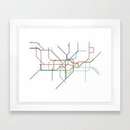 London tube Framed Art Print
