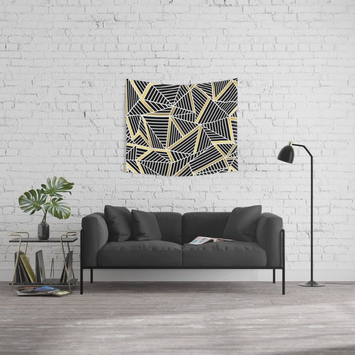 Ab Lines 2 Gold Wall Tapestry