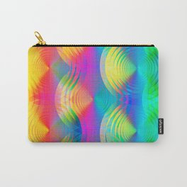 colored rainbow pattern with spirals Carry-All Pouch
