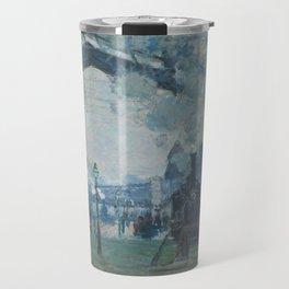 Claude Monet - Arrival of the Normandy Train Travel Mug