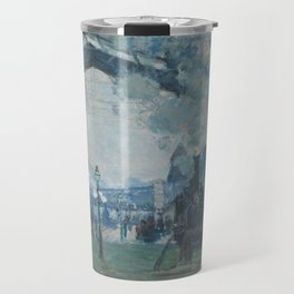 Claude Monet - Arrival of the Normandy Train Travel Mug