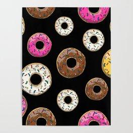 Funfetti Donuts - Black Poster