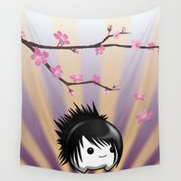 asia Wall Tapestries featuring Zen Cumi by Goat Games