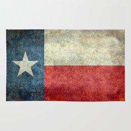 Texas flag, Retro distressed texture Rug