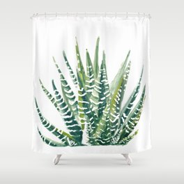 Zebra Cactus Shower Curtain
