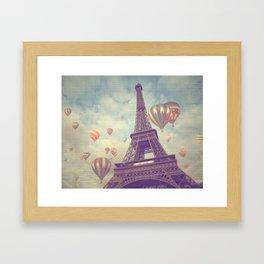 Balloons over Paris Framed Art Print