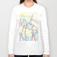 crane Long Sleeve T-shirts featuring Crane  by Yellow Sun Lisa