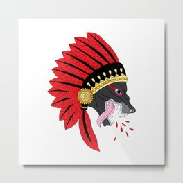 Wolf Chief Metal Print