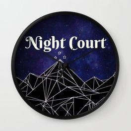 Night Court Wall Clock