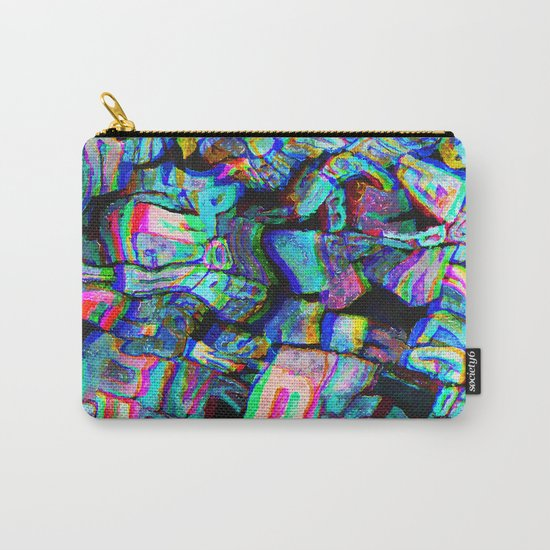Twisted Text And Colors Carry-All Pouch