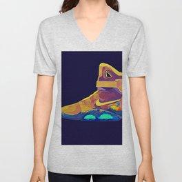 Neon Sneaker Head Back to the Furture Unisex V-Neck
