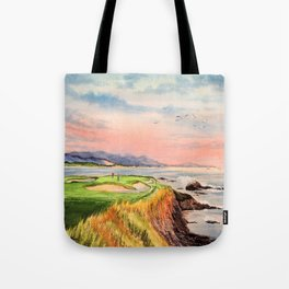 Pebble Beach Golf Course 7th Hole Tote Bag