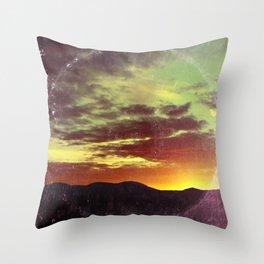 American Sunset As Vintage Album Art Throw Pillow