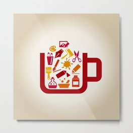 Art a cup Metal Print