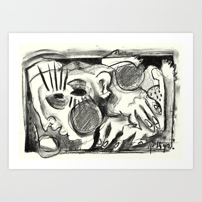 The Shaping of a Man Art Print