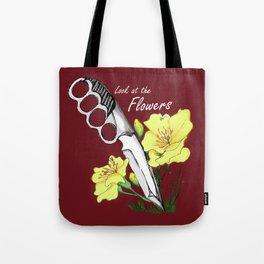 Carol's Flowers_red Tote Bag