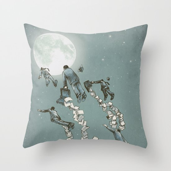 Throw Pillow Options : Flight of the Salary Men (color option) Throw Pillow by Eric Fan Society6