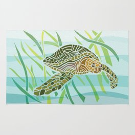 Sea Turtle at Home Rug