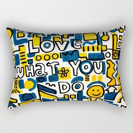 Fun LOVE and colorful art BED COMFORTER or Shower Curtain Rectangular Pillow