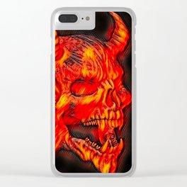 Airbrush Devil Skull Clear iPhone Case