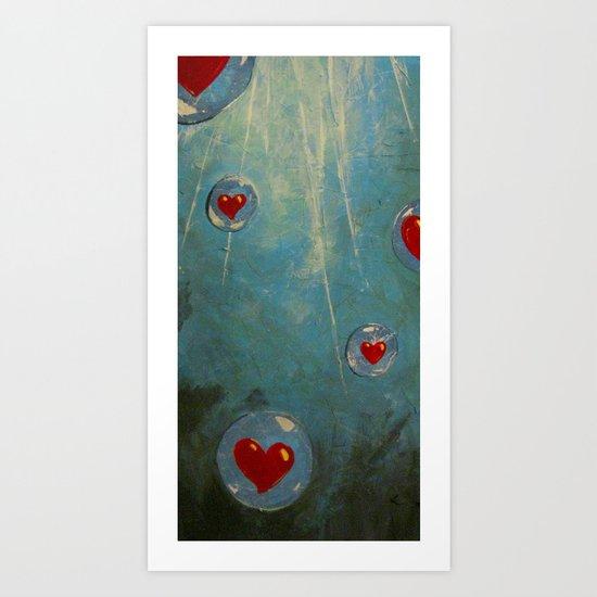 Love Floats Art Print