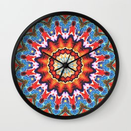 Colorful Mandala Pattern Wall Clock