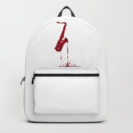 Red Hot Saxophone Backpack