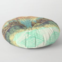 The Unknown Hills in Kamakura Floor Pillow