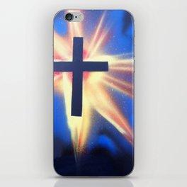 Glowing Space Cross iPhone Skin
