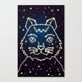 Cat and Stars Canvas Print