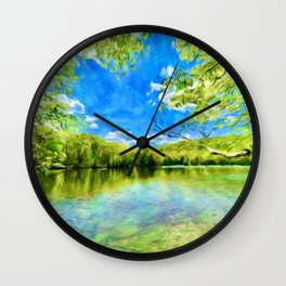 Magical Flow on the Lake Wall Clock