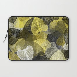 Black & Gold Leaf Abstract Laptop Sleeve