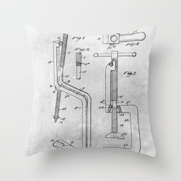 C Clamp hand tool Throw Pillow