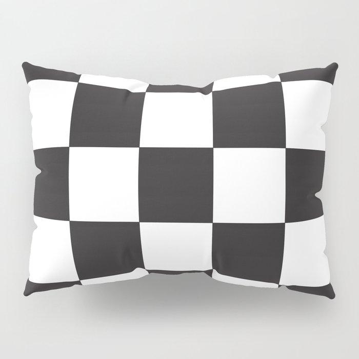 Black And White Checkered Pattern Pillow Sham By Beautifulcuteness