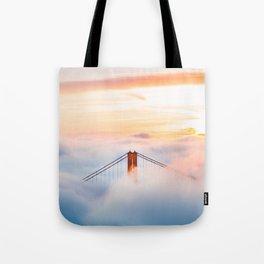 Golden Gate Bridge at Sunrise from Hawk Hill - San Francisco, California Tote Bag
