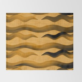 """Abstract Oriental Tiger"" Throw Blanket"