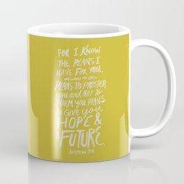 Jeremiah 29: 11 x Mustard Coffee Mug