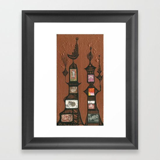 I Love You, Hundertwasser #5 Framed Art Print