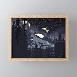 Over The Train Framed Mini Art Print
